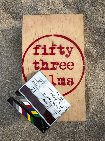 53 films logo in sand